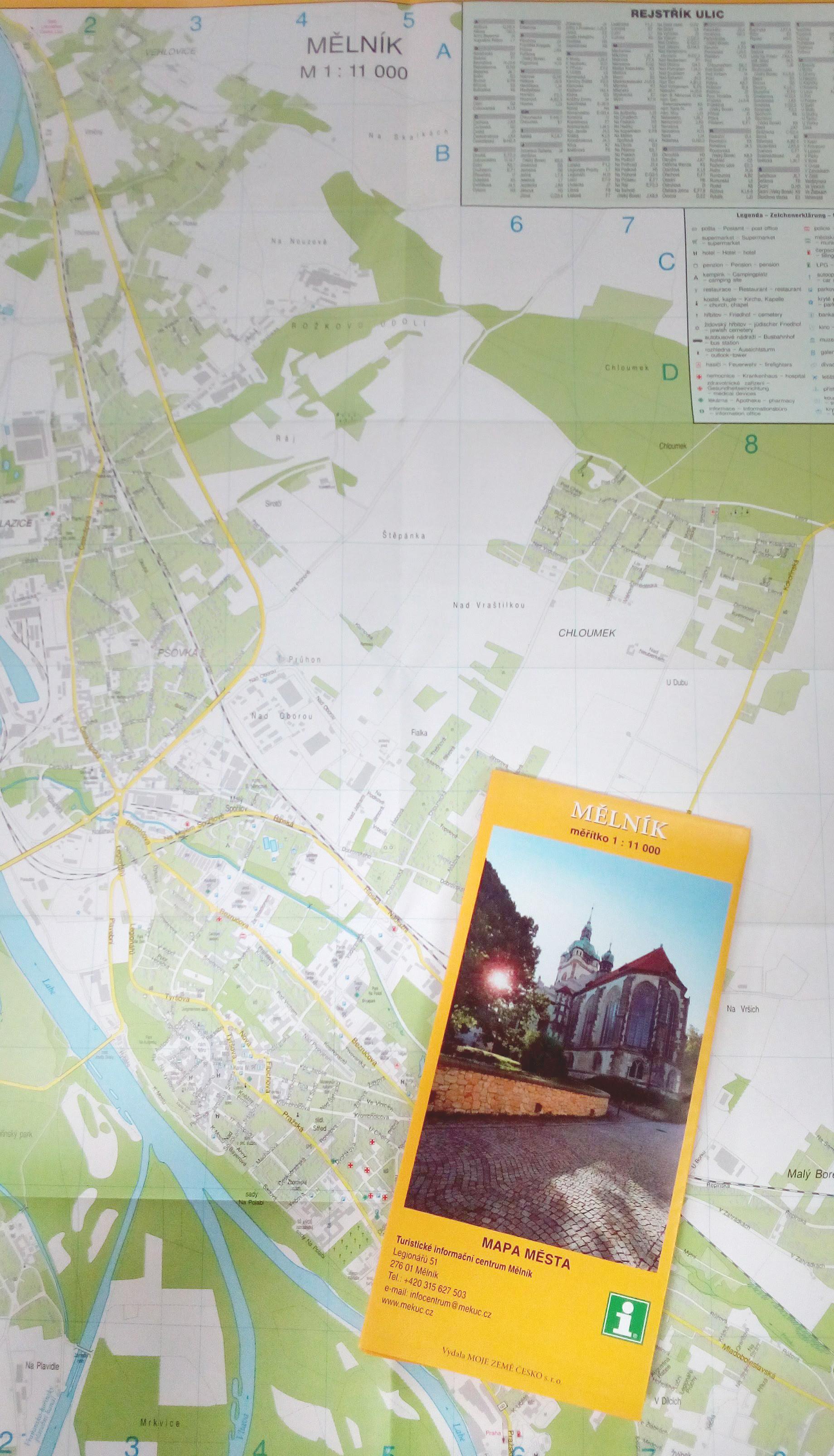Nova Mapa Mesta Melnik V Prodeji V Tic Turisticke Informacni