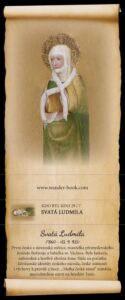 Sběratelská turistická fotonálepka sv. Ludmila edice Wander Book patří k stálé nabídce TIC Mělník.